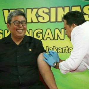 Wakil Jaksa Agung Dr Arminsyah Disuntik Difteri