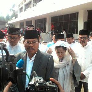 Jaksa Agung HM Prasetyo Bersama Seluruh Jajaran, Usai Menyerahkan Hewan Kurban Kepada Panitia, Rabu (22/8).