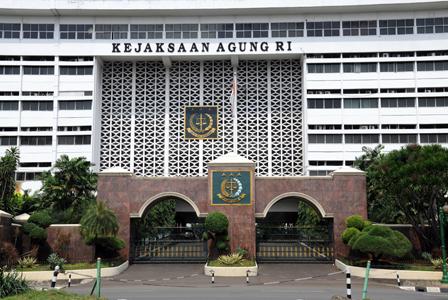 Kejaksaan Agung RI, di kawasan Blok M, Jakarta Selatan, Rabu (25/2)